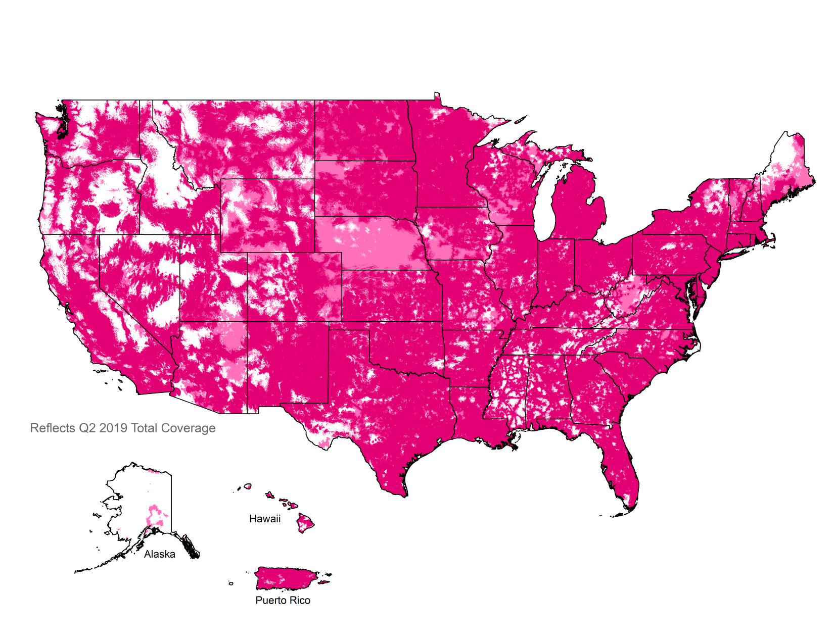 G LTE Coverage Map Check Your G LTE Cell Phone Coverage TMobile - Show map of the us